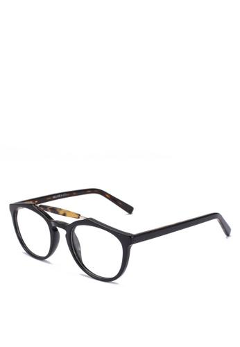 Milliot & Co. black Tracy Phantos Sunglasses 9506CGLDE44286GS_1