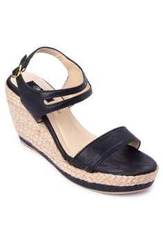 Leah Strappy Ankle Wedge Espadrilles