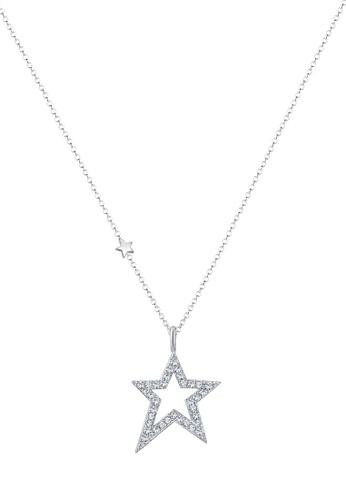 ELLI GERMANY silver Necklace Star Crystals EL474AC0SEVFMY_1