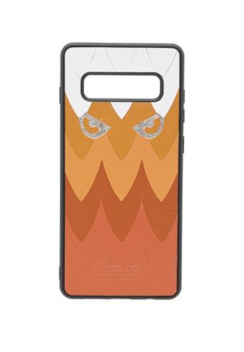 POROLUXE brown PHONE CASE FOR SAMSUNG S10+ 756E6AC0531336GS_1