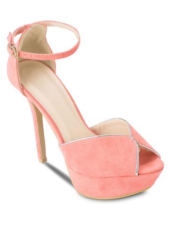 露趾esprit品牌介绍繞踝麂皮高跟鞋, 女鞋, 鞋