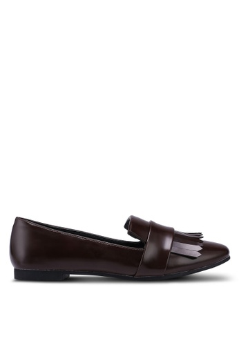 Something Borrowed brown Fringe Loafers B4126SHA907298GS_1