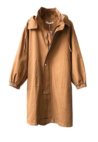 Twenty Eight Shoes brown VANSA Long Style Trench Coat VCW-T6030 B2F0FAAD5DEDF2GS_1