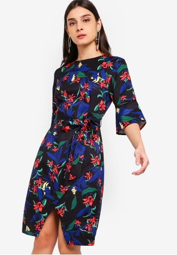 303b1c2660bf Buy ZALORA Flare Sleeves Dress Online on ZALORA Singapore
