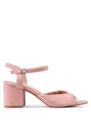 Public Desire pink Helix Low Heel Sandals 8EF11SHFAE1020GS_1
