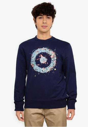 Ben Sherman blue Chest Target Sweatshirt 578C9AA6C13FF8GS_1
