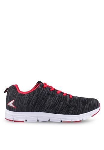 Power black Knit Training Shoes E3627SH3FDE9EEGS_1