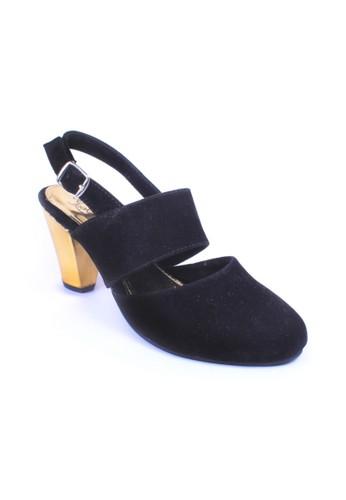Urban Looks black and multi Kamila Black Gold Heels UR829SH04FTVID_1