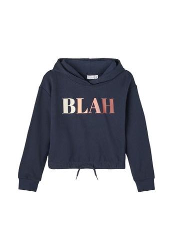 NAME IT navy Viala Printed Sweatshirt FA268KA8D501A0GS_1