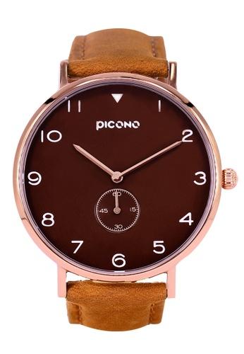 PICONO Watches brown Spy S Unique Fashion Leather Strap Watch PI771AC2VUSMHK_1