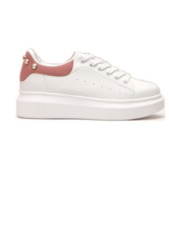 Crystal Korea Fashion pink Korean Made Pearls Casual White Shoes 60492SHC431416GS_1