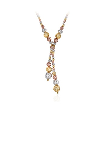 Glamorousky silver Fashion Simple Geometric Colorful Round Bead Necklace 812DFAC56C285EGS_1