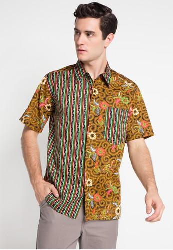 ARJUNA WEDA multi and brown Hem Batik Ceplok Sawat Ukel AR541AA0WP1OID_1