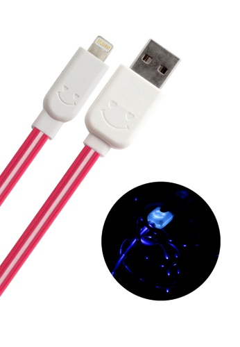 BAVIN pink Lightning USB Cable for IOS iPhone / iPad / iPod 50D6DAC5DB5C63GS_1