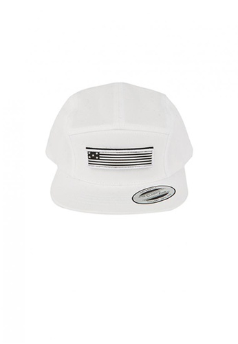 M-Wanted white M. Feltics Standard Velcro Camp 5 Panel Cap MW173AC54DTLSG_1