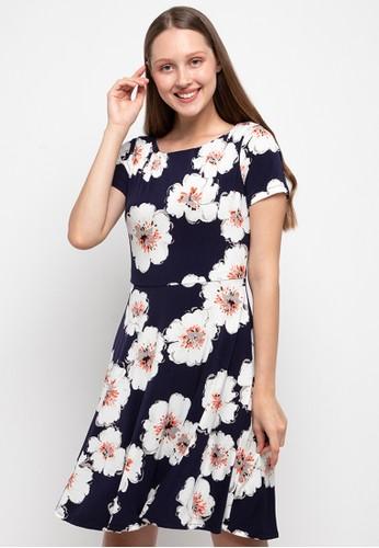 Chanira white and navy Ragna Dress 48D26AA8F8CE49GS_1