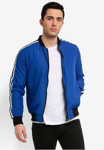 9076d0ce7 Axton Side Tape Sleeve Bomber Jacket
