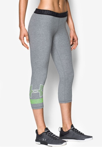 Under Armour grey and yellow Favorite Graphic Capri Bottoms UN337AA0RUGKMY_1