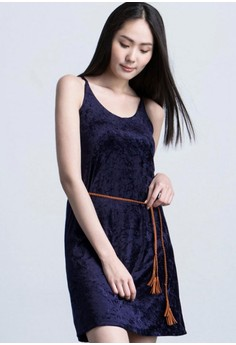 Velvet Escape Slip Dress