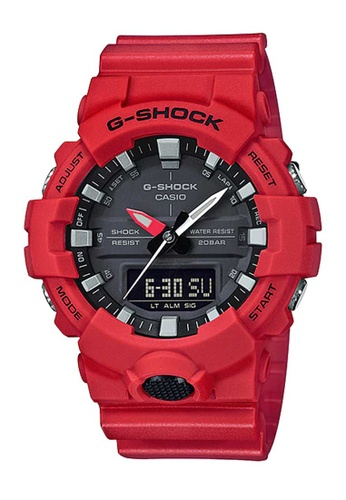 CASIO red Casio G-Shock Black and Red Resin Watch 07256AC49C8A91GS_1
