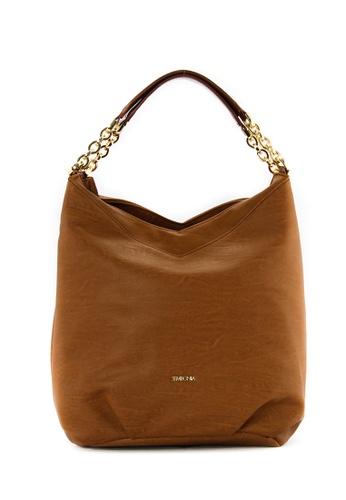 SEMBONIA brown SEMBONIA Synthetic Leather Hobo Bag (Brown) 12E45ACF9260ECGS_1