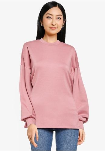 JACQUELINE DE YONG pink Bella Long Sleeve Sweatshirt F4295AA4A49DEEGS_1