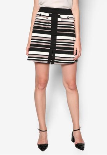 Petitezalora 衣服評價 條紋A 字短裙, 服飾, 服飾