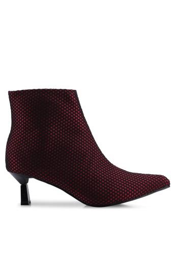 14d98288d90 Shop NA-KD Net Kitten Heel Boots Online on ZALORA Philippines