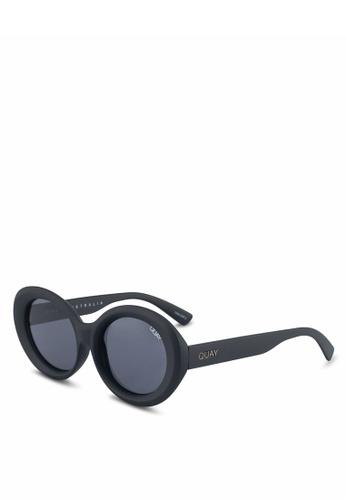 Quay Australia black MESS AROUND Sunglasses 5C399GL7D499A3GS_1