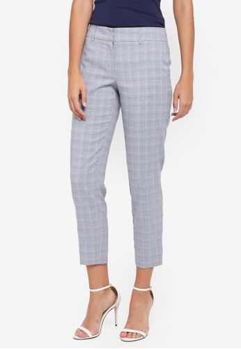 Dorothy Perkins blue Blue Summer Check Ankle Grazer Pants 6FEDAAA91A5480GS_1