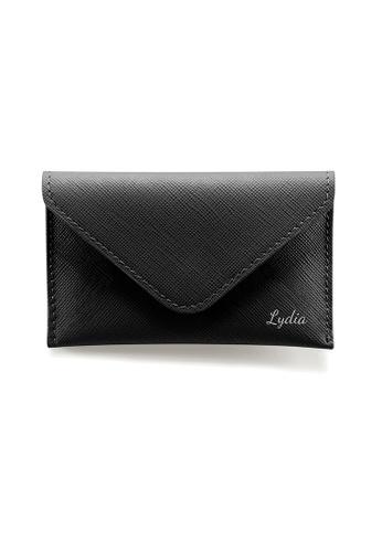 Crudo Leather Craft black Senz'altro Name Card Holder - Saffiano Black A4A23ACA0C3EB1GS_1