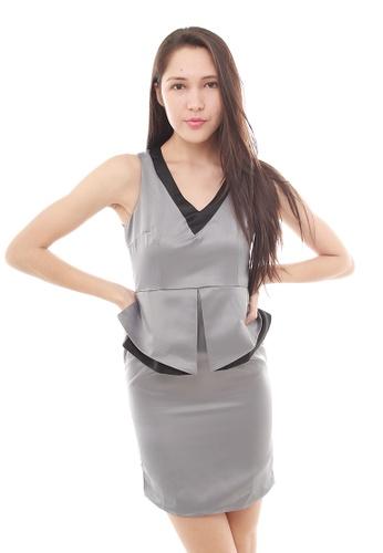 Leline Style grey Cara OL Dress LE802AA60ECTSG_1
