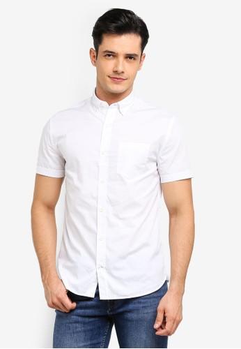 MANGO Man white Regular-Fit Cotton Shirt 7AF36AA9B34DC6GS_1