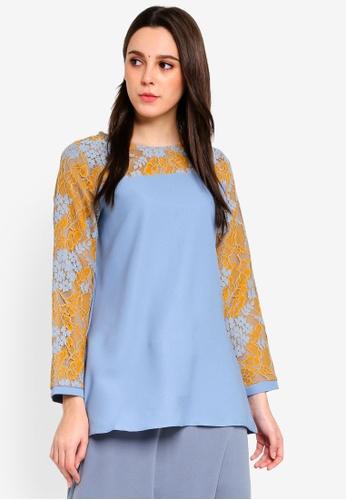 BYN blue Muslimah Blouse 83360AA988D90CGS_1