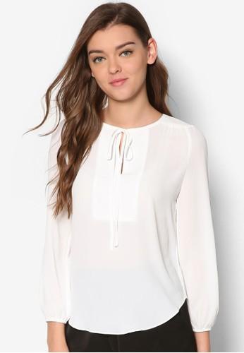前繫帶長袖T-shirt、 服飾、 上衣DressingPaula前繫帶長袖上衣最新折價