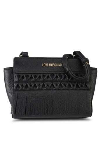 Love Moschino black LOVE MOSCHINO Borsa Vitello Sling Bag LO478AC0SXY5MY_1