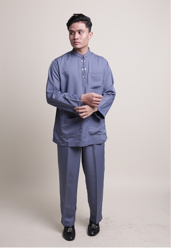 Denai Boutique grey Baju Melayu Ziyyad A917EAA5CAF045GS_1