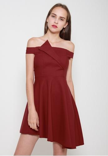 Leline Style red Alianna OffShoulder Dress F71D4AA764BEC0GS_1