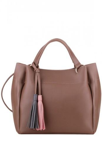 Primrose beige and brown Primrose Taya Hand Bag Khaki 71C21AC6592D32GS_1