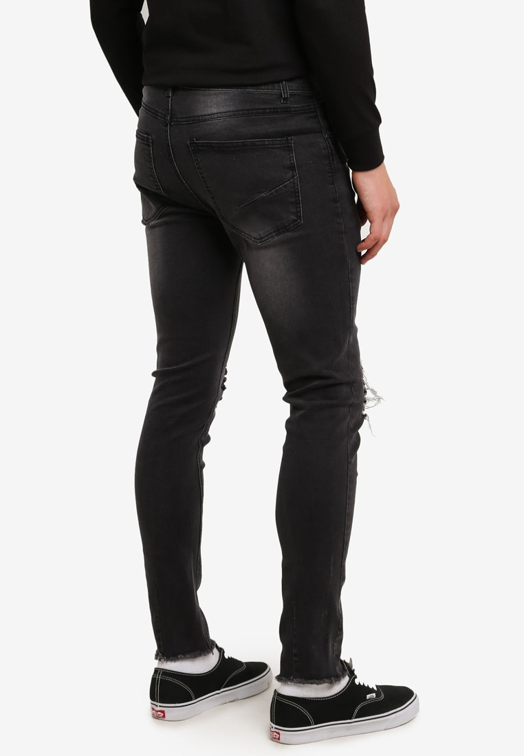 Flesh IMP Denim Torn Jeans Knee Cooper Black 6wIx8