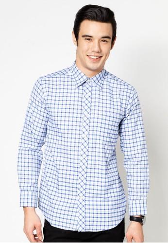 格esprit暢貨中心紋長袖襯衫, 服飾, 襯衫