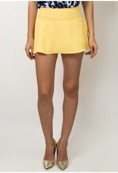 Mango Crepe Skort Shorts