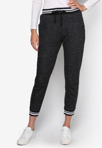 條紋褲頭休閒運動長褲, 服飾, 長褲esprit門市及內搭褲