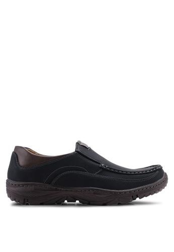 Louis Cuppers black Smart Casual Boat Shoes DE1CDSH67D7244GS_1