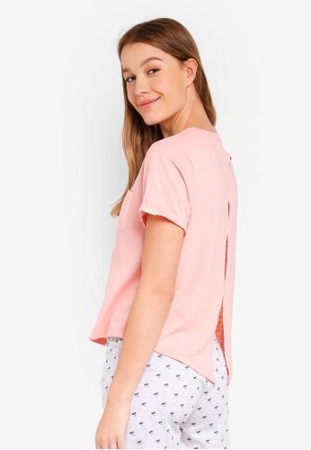 Cotton On Body pink Match Back Split Tee E4670AA2D7A393GS_1