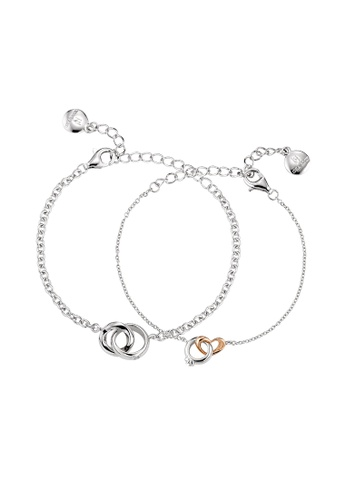 IR ACCESSORIES silver Heart-matched Couple bracelets 006B2AC9712799GS_1