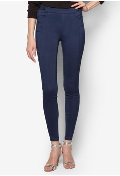 Stretch Skinny Pants With Stitching Detail