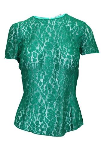 Nina Ricci 綠色 nina ricci 綠色蕾絲上衣 B279EAA745D13CGS_1