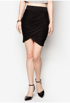 Ceci Asymmetric Twist Skirt