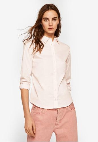 Mango pink Essential Cotton-Blend Shirt E3EB4AA16EA55AGS_1